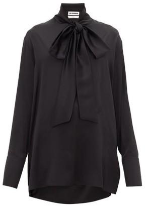 Jil Sander Friday P.m. Pussy-bow Silk Shirt - Black