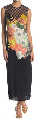 Dries Van Noten Mesh Yoke Floral Maxi Dress