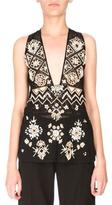 Altuzarra Sleeveless Embellished Lace Tunic, Black