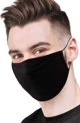 LOVE CHANGES 6-Pack Black Adult Face Masks