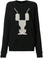 Rick Owens embroidered sweatshirt