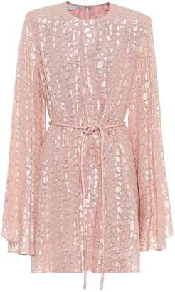 Stella McCartney Silk-blend fil coupe minidress