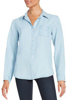 Splendid Back-Stripe Chambray Shirt