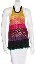 Vanessa Bruno Crochet Peplum Top