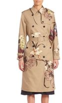 Valentino Embroidered Trench Coat