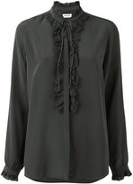 Zadig & Voltaire ruffled trim blouse - women - Silk - M