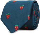 Paul Smith Strawberry Skull Silk Jacquard Tie