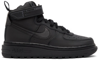 Nike Black Air Force 1 Boot Sneakers