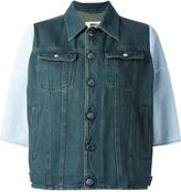MM6 MAISON MARGIELA contrast sleeve denim jacket - women - Cotton - 44