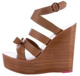 Sophia Webster Bow-Accented Wedge Sandals