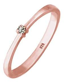 Elli Women's 925 Sterling Silver Solitaire Anniversary Ring P 0603822018_56