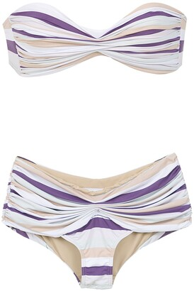 AMIR SLAMA Striped Bikini
