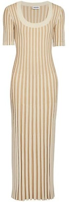 Kenzo Pleated Knit Maxi Dress