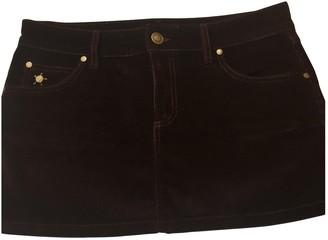 Gucci Burgundy Velvet Skirt for Women