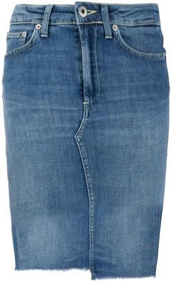 Dondup Raw Hem Denim Skirt