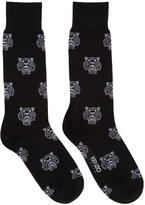 Kenzo Black Multi Tiger Socks