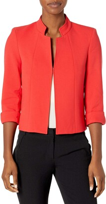 Tahari ASL Women's Plus Size Stand Collar Jacket