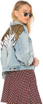 Free People Glam Embellished Denim Jacket.