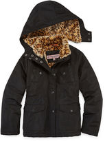 Asstd National Brand Fur-Lined Ballistic, Heavy-weight Jacket - Girls-Big Kid