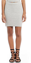 Roxy Thinkin Out Loud High Waist Knit Mini Skirt