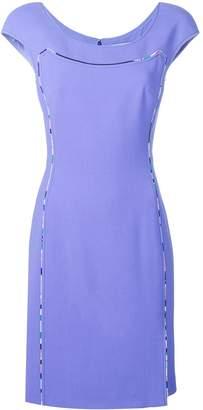 Emilio Pucci Cap Sleeve Contrast Trim Dress