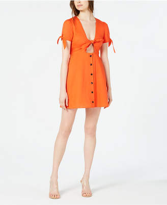 Lost + Wander Tie-Detail Front-Cutout Dress