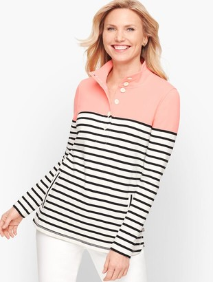 Talbots Colorblock Half Button Pullover