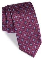 Canali Men's Floral Grid Silk Tie