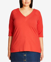 City Chic Trendy Plus Size V-Neck Top