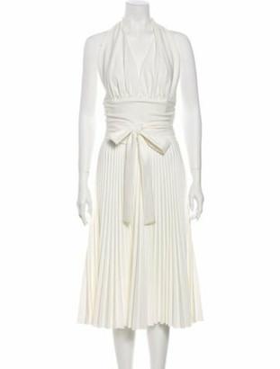 Sara Battaglia 2020 Midi Length Dress White