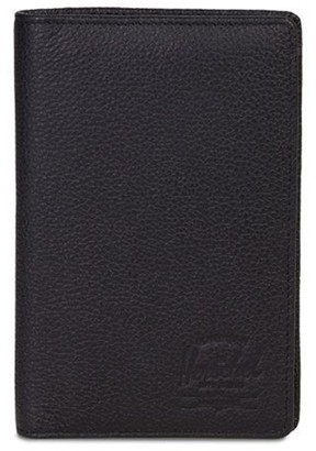 Herschel Search Leather Wallet - Black Pebble