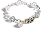 John Hardy Legends Naga Station Bracelet, Silver, 18K Gold, Pearl, Gems