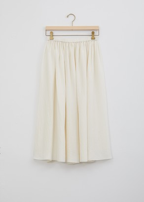 La Garçonne Moderne Silk Gathered Skirt