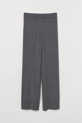 H&M Wide-leg Cashmere Pants - Gray