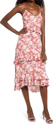 Rowa Tiered High/Low Dress