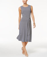 Charter Club Iconic-Print Fit & Flare Dress, Only at Macy's