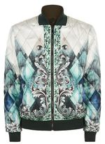 Versace Collection Baroque Print Bomber Jacket