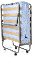 Milliard Super Strong Portable 31.5 by 79-Inch Folding Rollaway Bed with Wooden Slats and Comfortable Foam Mattress
