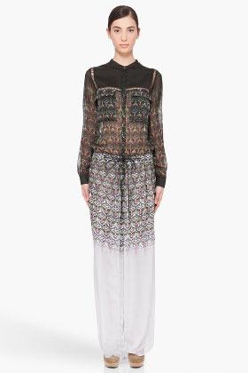 Matthew Williamson Long Silk Gradient Dress