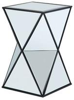 Nobrand No Brand Nixon Angular Mirror Accent Table - Silver