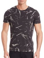 Theory Marcelo Spatter Cotton Jersey Tee