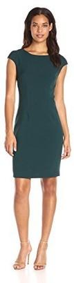 Helene Berman Women's Cap-Sleeve Fitted Dress