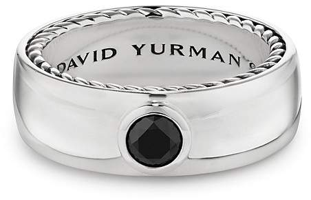David Yurman Streamline Band Ring with Black Diamonds