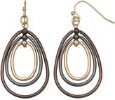 Apt. 9 Graduated Pear Hoop Drop Earrings