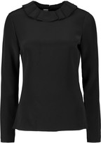 Goat Cameo ruffle-trimmed silk blouse