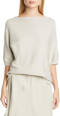 Fabiana Filippi Drop Shoulder Metallic Cotton Blend Sweater