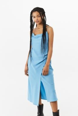 Finders Keepers Calypso Midi Dress - Blue XS at Urban Outfitters
