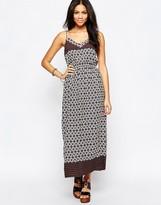 Brave Soul Border Print V Neck Maxi Dress