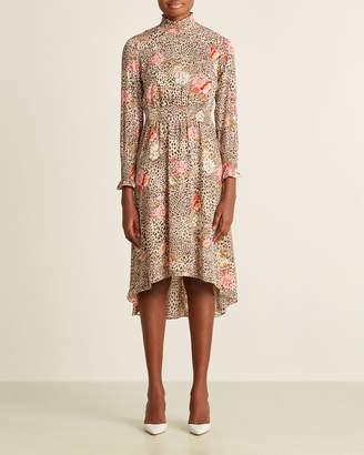Nanette Lepore Nanette Floral Cheetah Print Dress