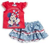 Nannette Girls 2-6x Little Girls Minnie Mouse Tee and Skirt Set
